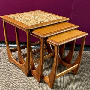 1970s Teak and Tile Top Nest of Tables by G-Plan