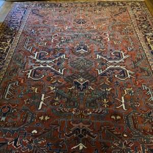 Superb Quality Old Hand Knotted Persian Heriz Rug