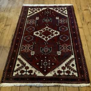 Lovely Hand Knotted Persian Rug Hamadan Village Piece Geometric