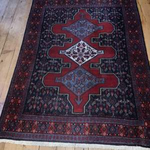 Stunning Hand Knotted Persian Sennah Repeating Medallion Design