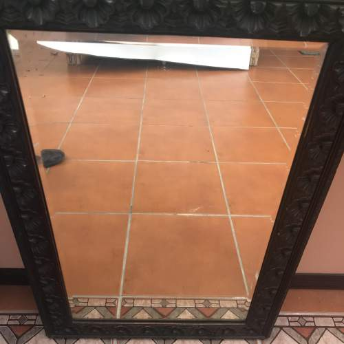 A Rectangular Carved Wall Mirror With Bevelled Glass image-4