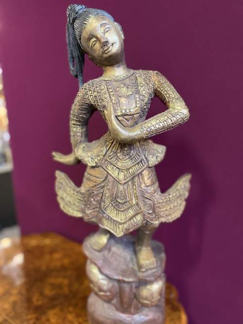 Old Hand Carved Indonesian Figure Very Unusual Piece Superb image-2
