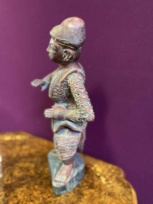 Old Hand Carved Indonesian Figure Very Unusual Piece Superb image-3
