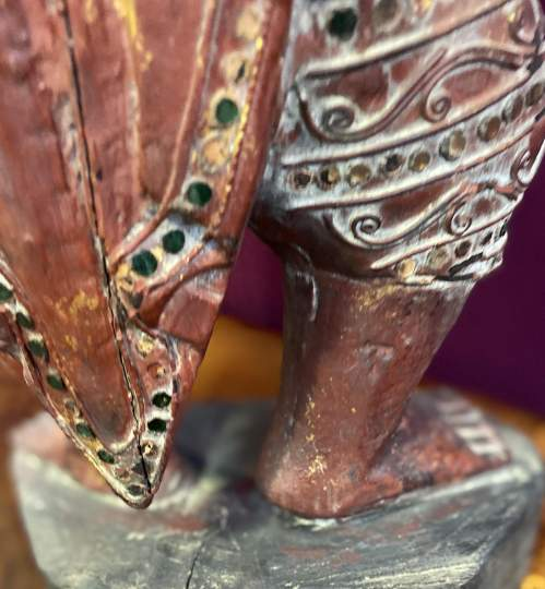 Old Hand Carved Indonesian Figure Very Unusual Piece Superb image-5