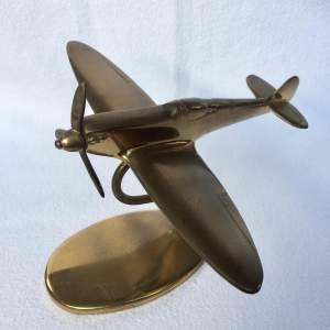 Brass Model of a Spitfire