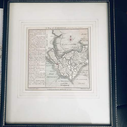 A Map Of Cheshire 1742 image-1