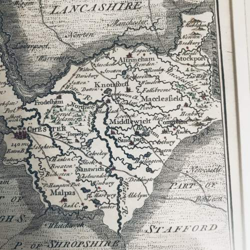 A Map Of Cheshire 1742 image-2