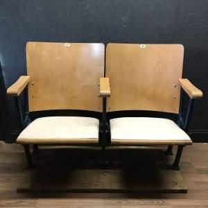 Lovely Pair of Belgian Cinema Seats - Remounted