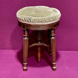 Gillow Style Regency Adjustable Piano Stool