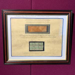 Framed Set of South Africa Transvaal Stamps