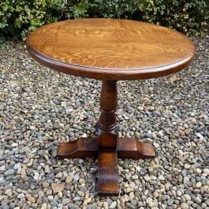 A Balmoral York Oak Occasional Table