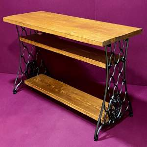 Singer Cast Iron Ended Side Table