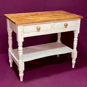 Victorian Pine Painted Table