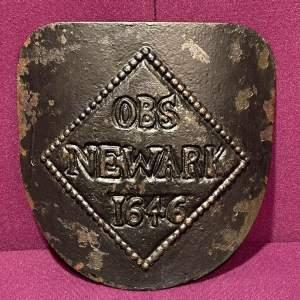 Cast Iron OBS Newark 1946 Plaque