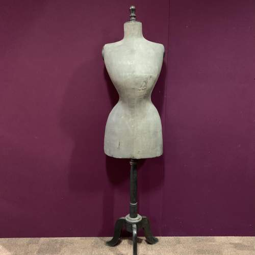 Victorian Nipped Waist Mannequin in Faded Black image-1