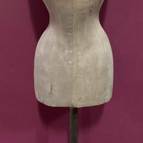 Victorian Nipped Waist Mannequin in Faded Black image-3