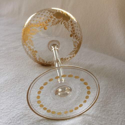 Unusual Tall Gilded Champagne Coupe image-4