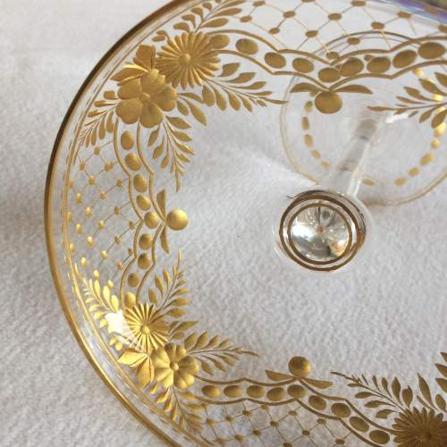 Unusual Tall Gilded Champagne Coupe image-5