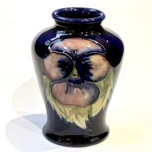 Walter Moorcroft Pansy Vase
