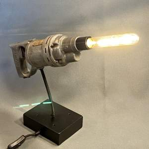 Vintage Wolf Drill on Reclaimed Aluminium Stand Upcycled Lamp