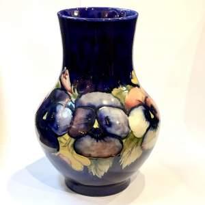 William Moorcroft Large Blue Pansy Vase