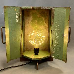 Upcycled Vintage Toolbox on Bullfinch Gas Ring Base Lamp