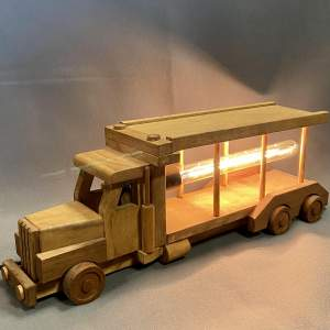 Upcycled Old Wooden Toy Truck Quirky Lamp