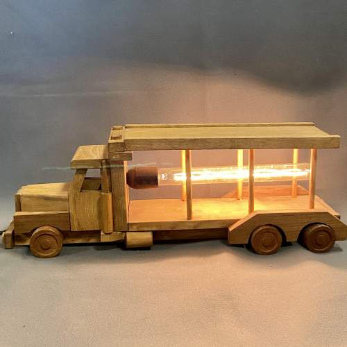 Upcycled Old Wooden Toy Truck Quirky Lamp image-2