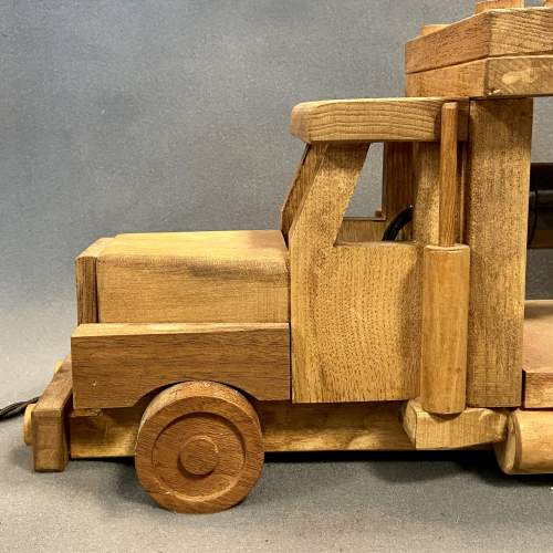 Upcycled Old Wooden Toy Truck Quirky Lamp image-3