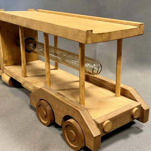 Upcycled Old Wooden Toy Truck Quirky Lamp image-4