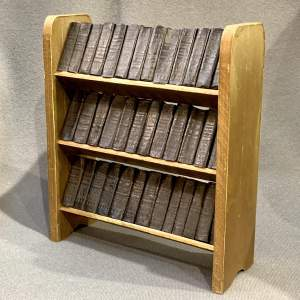 Miniature Bookcase complete with 38 Shakespeare Books