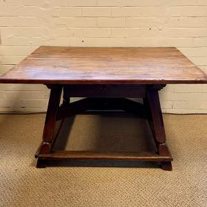 19th Century Rustic Dutch Country Table with Drawer