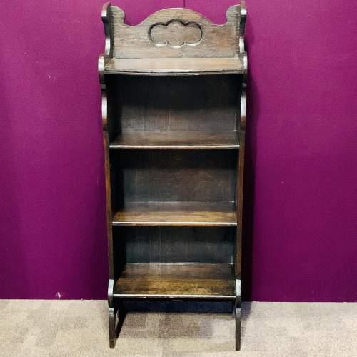 Small Oak Open Bookcase image-1