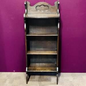 Small Oak Open Bookcase