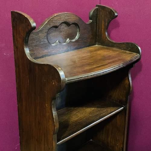 Small Oak Open Bookcase image-2