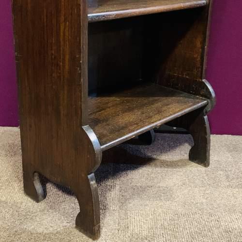 Small Oak Open Bookcase image-3