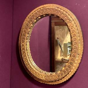 Arts And Crafts Mixed Wood Wall Mirror