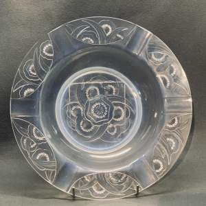 Sabino 1930s Art Deco Opalescent Glass Charger