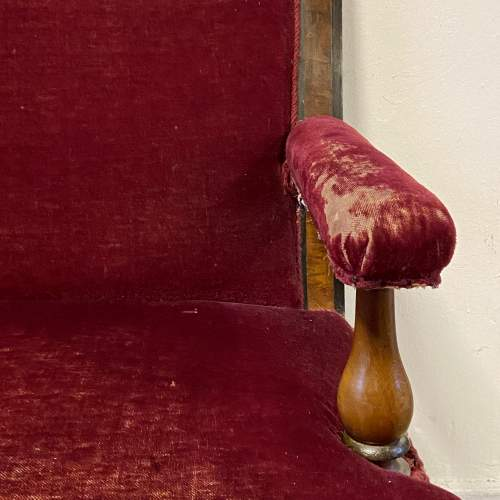 Late Victorian Mahogany Two Seater Settee image-2