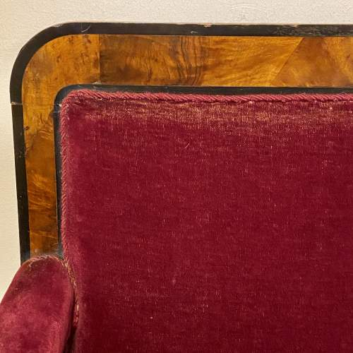 Late Victorian Mahogany Two Seater Settee image-4