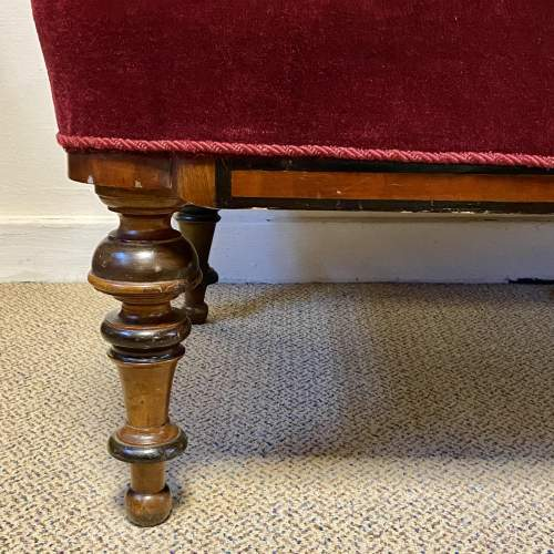 Late Victorian Mahogany Two Seater Settee image-3