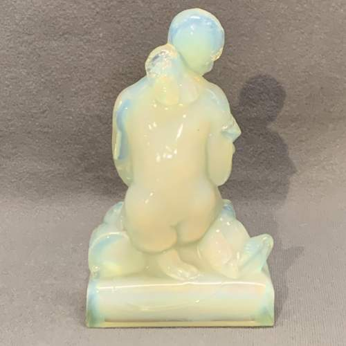 Sabino Opalescent Glass Figure of a Girl and Dove image-3