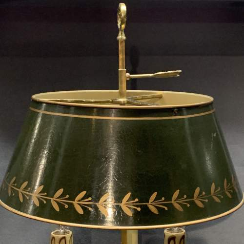 Large French Brass Toleware Desk Lamp image-2