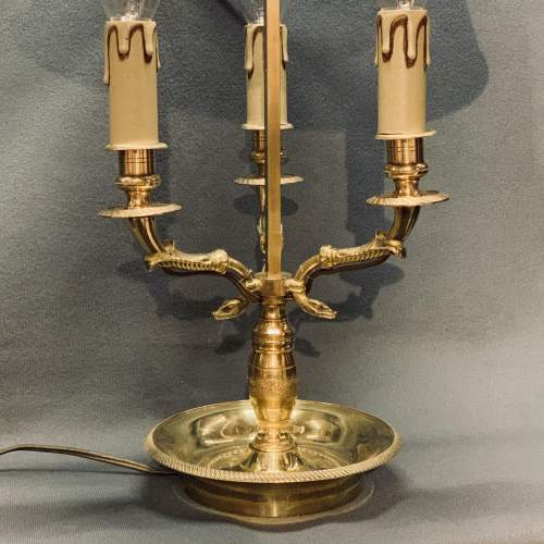 Large French Brass Toleware Desk Lamp image-3