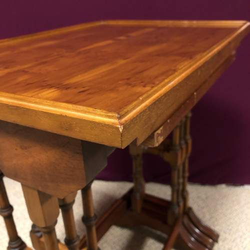 20th Century Yew Wood Nest of Tables image-5