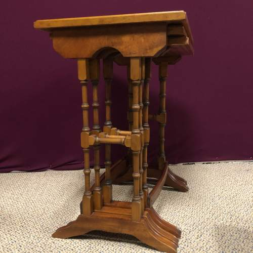 20th Century Yew Wood Nest of Tables image-4