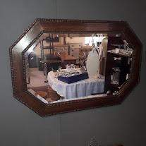 Edwardian Oak Framed Wall Mirror image-1