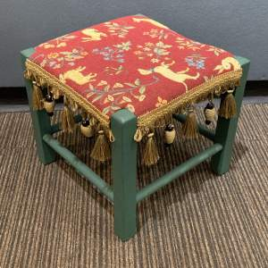 Re-upholstered Decorative Footstool