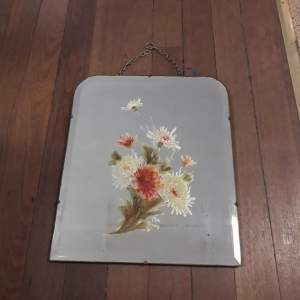 Art Nouveau Floral Hand Painted Wall Mirror