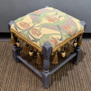 Vintage Re-upholstered Footstool